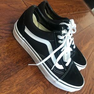 Old Skool Black Vans women's 7.0 Men's 5.5
